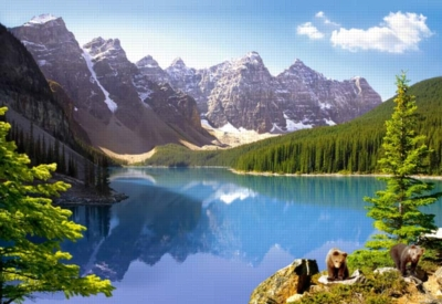 Moraine Lake, Banff National Park, Canada. - 1000pc Jigsaw Puzzle by Castorland