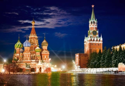 Red Square by Night in Moscow, Russia - 1000pc Jigsaw Puzzle By Castorland
