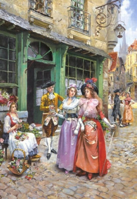 Promenade in the Time of Louis XVI - 1500pc Jigsaw Puzzle by Castorland