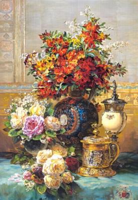 Fleurs Sur Une Table - 1500pc Jigsaw Puzzle by Castorland