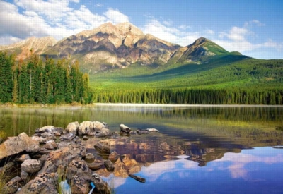 Pyramid Lake, Banf National Park, Canada - 1500pc Jigsaw Puzzle by Castorland