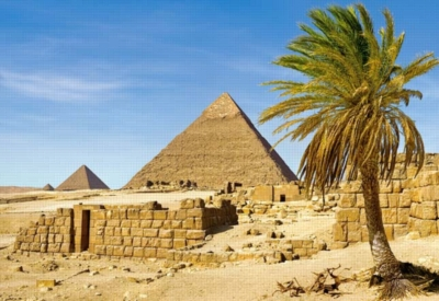 Pyramids in Giza, Egypt - 1500pc Jigsaw Puzzle by Castorland