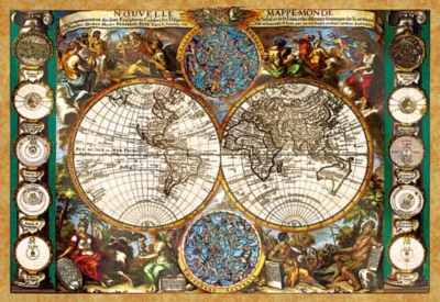 Antique World Map - 1500pc Jigsaw Puzzle by Castorland