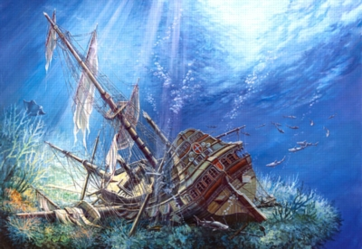 Sunk Galleon - 2000pc Jigsaw Puzzle by Castorland