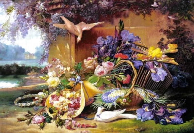 Elegant Still Life with Flowers - 2000pc Jigsaw Puzzle by Castorland