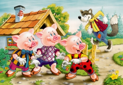 Three Little Pigs - 260pc Jigsaw Puzzle by Castorland