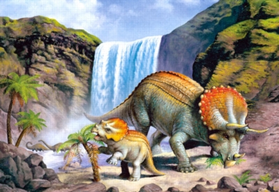 Dinosaurs Jigsaw Puzzles for Kids - Triceratops (T. Horridus)
