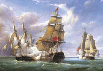 Gilbert: Combat, 21st April 1806 - 3000pc Jigsaw Puzzle by Castorland
