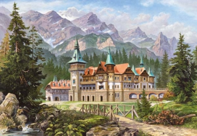 Hard Jigsaw Puzzles - Castle at the Foot of the Mountains