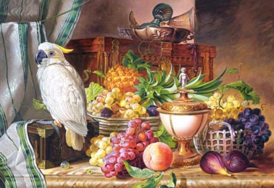 Still Life With Fruit and a Cockatoo - 3000pc Jigsaw Puzzle by Castorland