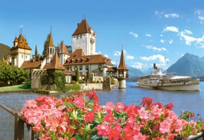 Oberhofen, Switzerland - 500pc Jigsaw Puzzle by Castorland