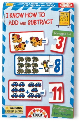 I Know How To Add And Subtract - 48pc Jigsaw Puzzle by EDUCA