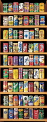 Soft Drink Cans - 2000pc Vertical Panoramic Jigsaw Puzzle by EDUCA