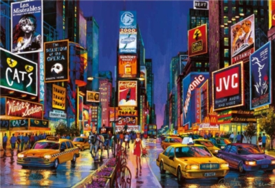 New York City Puzzle - Times Square Glow in the Dark