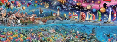 Life - 3000pc Panoramic Jigsaw Puzzle by EDUCA