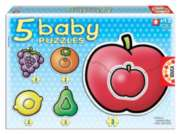 Fruits (5 Pack) - 4pc Jigsaw Puzzles by Educa