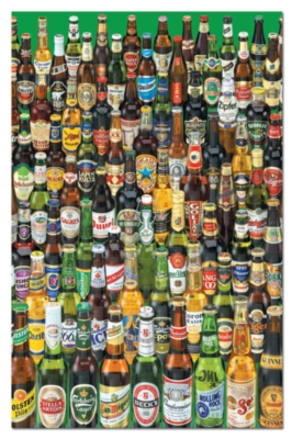 Beers - 1000pc Miniature Hard Jigsaw Puzzle by Educa