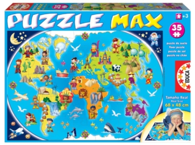 Jigsaw Puzzles For Kids - My First Map Of The World