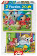 Puss'N Boots / Little Red Riding Hood - 2 X 20pc Jigsaw Puzzles by Educa