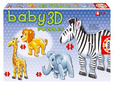3D Puzzles - Wild Animals