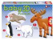 Polar Animals - 4x4pc 3D Jigsaw Puzzles By Educa