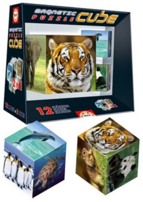 Cube Wildlife - 8pc Magnetic Block Puzzle by Educa