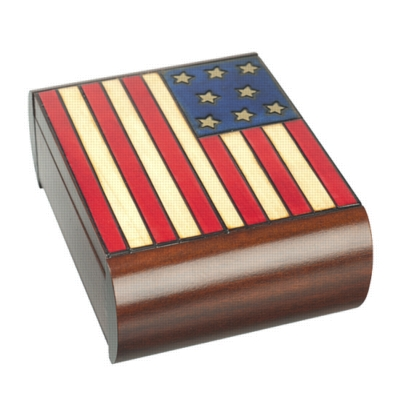 Puzzle Box - American Flag - Secret