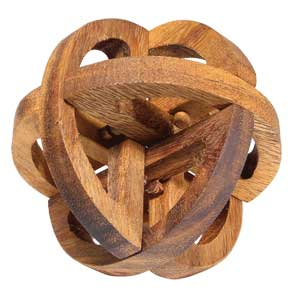 Interlocking Wooden Puzzle - Spheroid