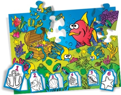Crayola Silly Sea Search - 36pc Jigsaw Puzzle By Great American Puzzle Factory