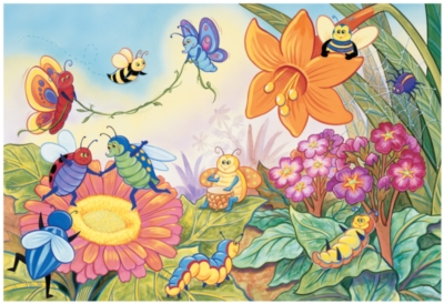 Crayola Bugs - 35pc Jigsaw Puzzle By Great American Puzzle Factory