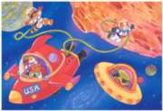 Crayola Space - 35pc Jigsaw Puzzle By Great American Puzzle Factory