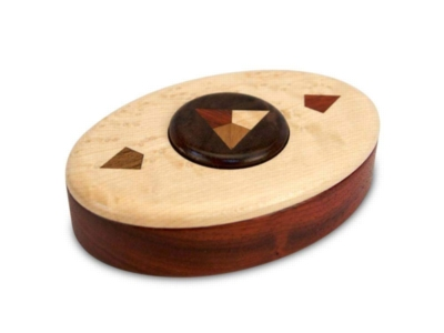 Button Deluxe (Padauk, Maple, Walnut) - Puzzle Box