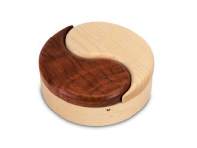 Puzzle Box - Yin & Yang (Maple & Bubinga)