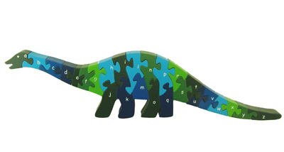 Alphabet Dinosaur - 26pc Eco-Friendly Wooden Jigsaw Puzzle by ImagiPLAY