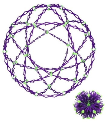Mini Hoberman Sphere - Universe (Glow-in-the-Dark)