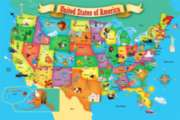 USA Map - 100pc Floor Puzzle by Masterpieces