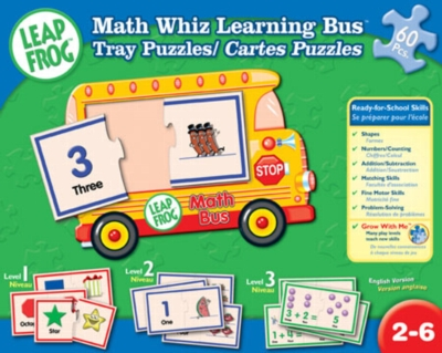Leapfrog: Math Whiz Learning Bus Tray Puzzle - 60pc Jigsaw Puzzle by Masterpieces