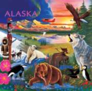Alaska Wildlife - 48pc Wooden Tray Puzzle by Masterpieces