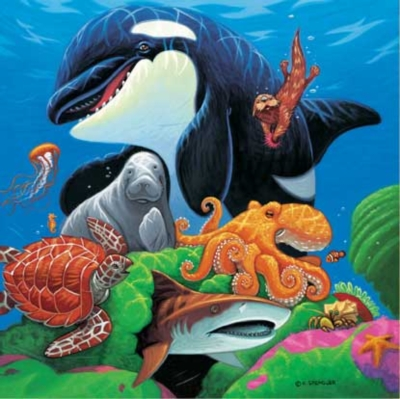 Children's Puzzles - Undersea Friends with Fun Facts