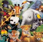 Safari Friends with Fun Facts - 48pc Wooden Tray Puzzle by Masterpieces