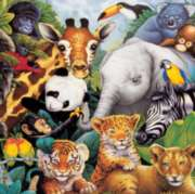 Children's Puzzles - Safari Friends with Fun Facts