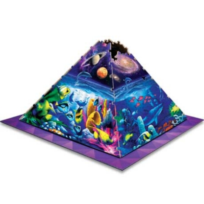 Worlds of Wonder - 365pc 3D Pyramid Jigsaw Puzzle by Masterpieces