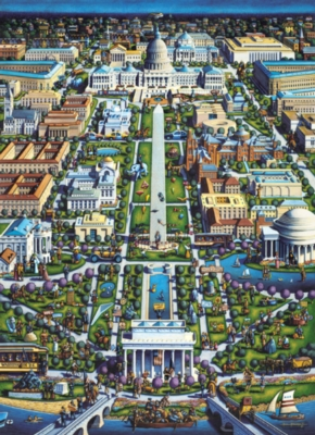 Washington, DC - 1000pc Suitcase Jigsaw Puzzle by Masterpieces