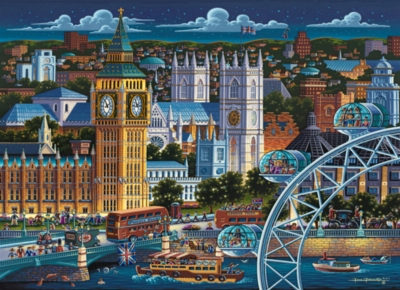 London - 1000pc Suitcase Jigsaw Puzzle by Masterpieces