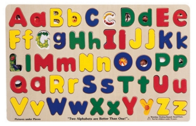 Upper & Lower Case Alphabet - 52pc Wooden Puzzle By Melissa & Doug