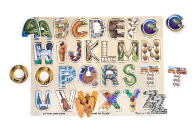 Alphabet Art - 26pc Wooden Puzzle By Melissa & Doug