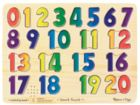 Numbers - 21pc Wooden Sound Puzzle By Melissa & Doug