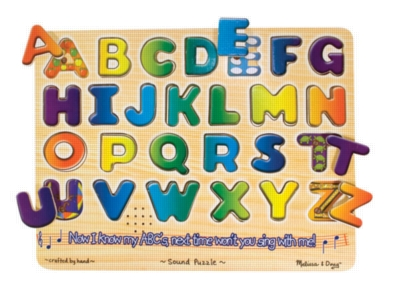 Alphabet Jigsaw Puzzles for Kids - Wooden Sound Puzzle