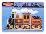 Train - 9pc Wooden Sound Puzzle By Melissa & Doug