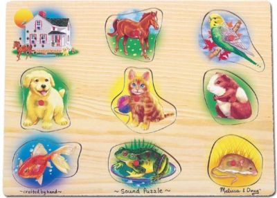 Pet Sounds - 8pc Peg Puzzle By Melissa & Doug
